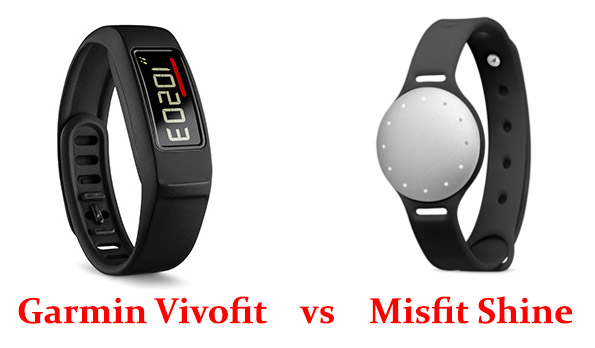 Garmin Vivofit vs Misfit Shine