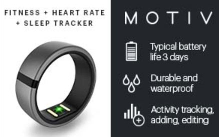 Motiv fitness tracking ring
