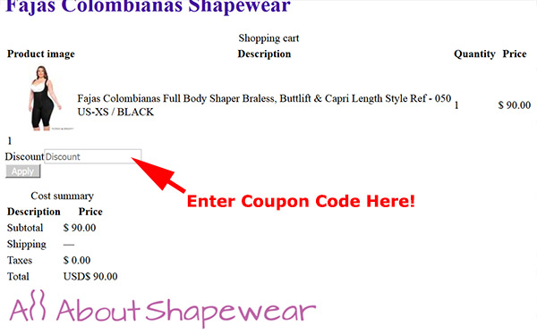 All About Shapewear coupon code